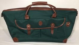 Vintage Ralph Lauren Polo Green Travel Carry On Duffel Bag Luggage Leather - $32.66
