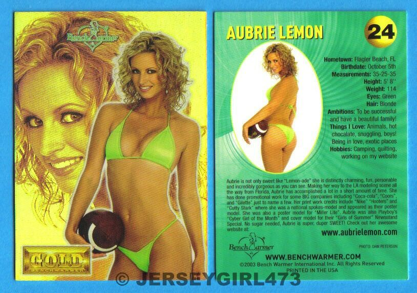 Aubrie Lemon 2003 Bench Warmer Gold Edition Card #24