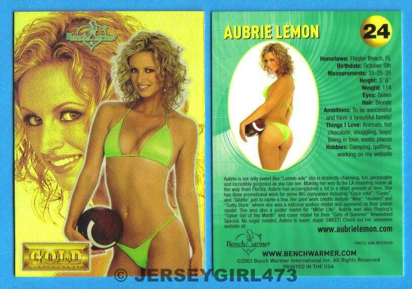 Aubrie Lemon 2003 Bench Warmer Gold Edition Card #24