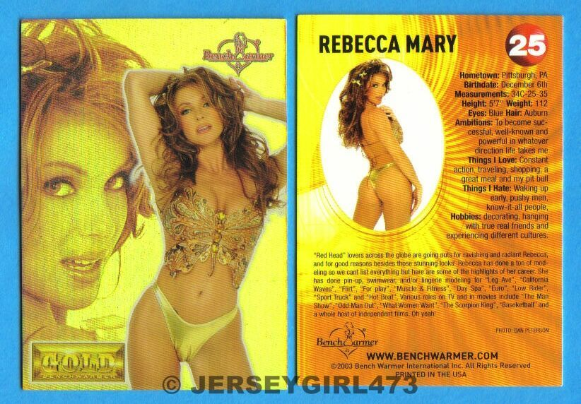 Rebecca Mary 2003 Bench Warmer Gold Edition Card #25
