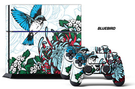 Designer Skin for PS4 Playstation 4 Console System & 2 Controller Decals BLUEBRD - $9.85