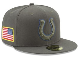 New Era Indianapolis Colts 2017 Salute To Service Low Profile 59FIFTY Ca... - $31.68