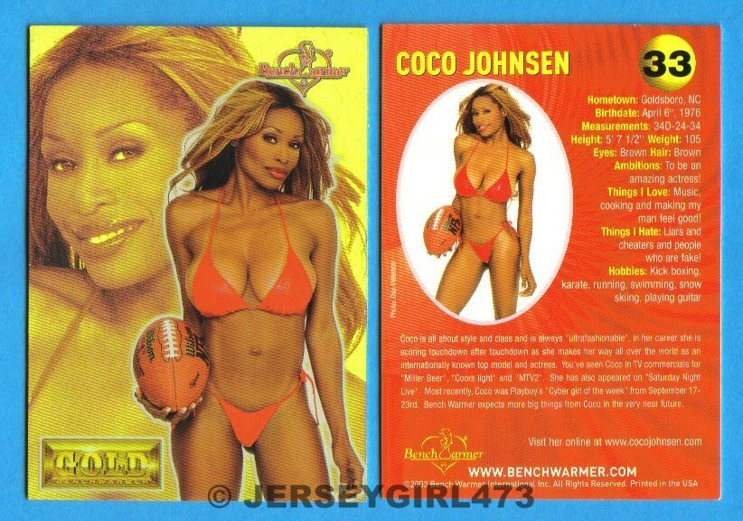 Coco Johnsen 2003 Bench Warmer Gold Edition Card #33