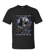 Skull Halloween Costume, Scary Skull  Guardian Angel T-Shirt Funny Halo ... - $19.95+
