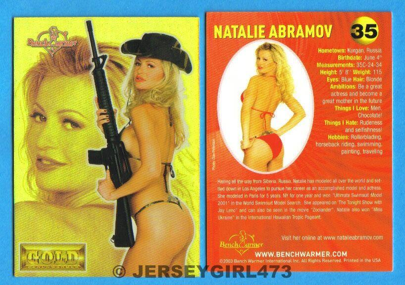 Natalie Abramov 2003 Bench Warmer Gold Edition Card #35