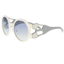 Prada Sunglasses PR13US YEB5R0 54MM Round Ivory Grey / Light Blue Silver Lens - $156.60