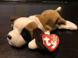 Ty Beanie Baby Bernie Dog Tag Errors Plush Toy Rare Pvc Retired Nurnberg & Kr - $4.94