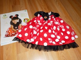 Size 12-18 Months Disney Baby Minnie Mouse Red White Polka Dot Costume D... - $22.00