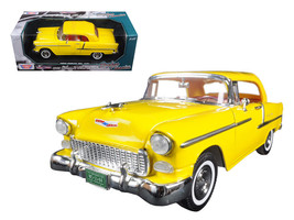 "1955 Chevrolet Bel Air Convertible Soft Top Yellow ""Timeless Classics\"" 1/18 Di - $54.58"