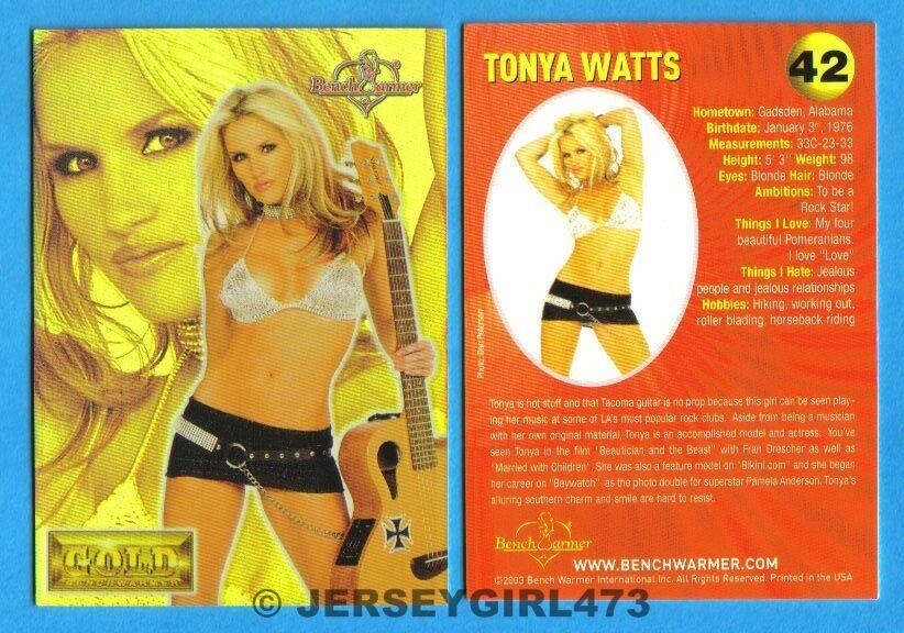 Tonya Watts 2003 Bench Warmer Gold Edition Card #42