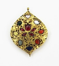 Necklace Pendant Gold Jewelry Indian Handmade Ethnic Style Vintage - $588.05