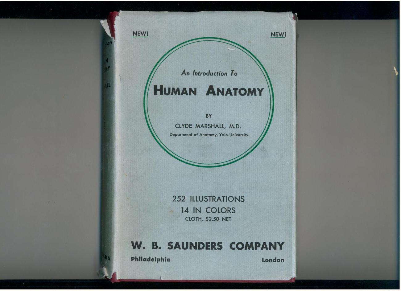 Marshall - HUMAN ANATOMY - 1936 - 1st/2nd - in v/scarce dj