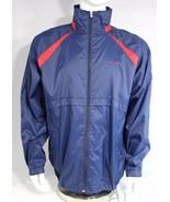 Nike vintage me's rain jacket blue zipper lightweight long sleeve size XL - $28.99