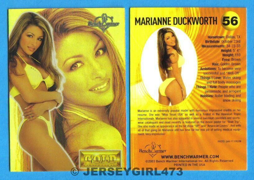 Marianne Duckworth 2003 Bench Warmer Gold Edition Card #56