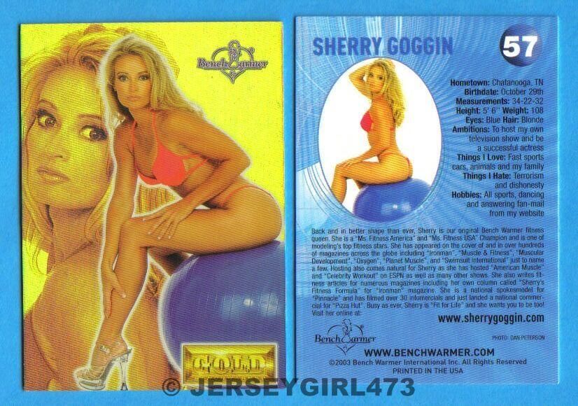 Sherry Goggin 2003 Bench Warmer Gold Edition Card #57