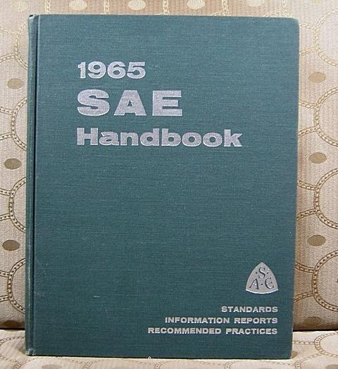 1965 SAE Handbook Standards Information Reports Practices