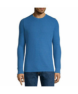 NWT arizona crew neck long sleeve thermal top snorkle blue NEW! SIZE medium - $18.80