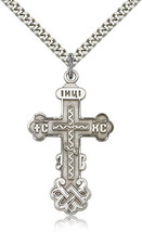 Men's Bliss Sterling Silver Cross Pendant-24 Inch Necklace 0269SS/24S - $51.00