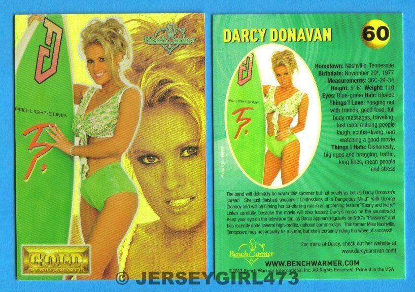 Darcy Donavan 2003 Bench Warmer Gold Edition Card #60