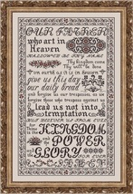 The Lord's Prayer MBT021 religious cross stitch chart My Big Toe Designs - $18.00