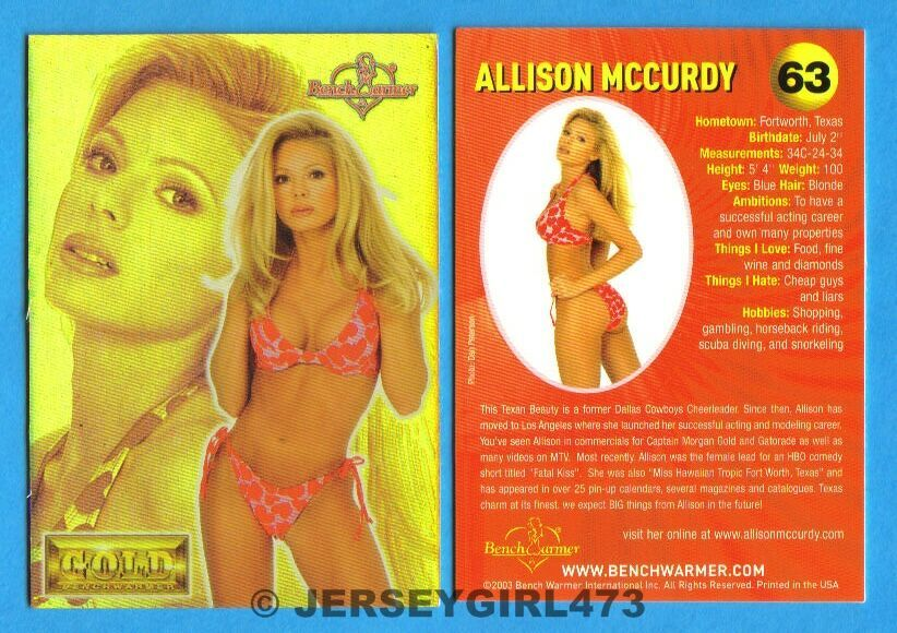 Allison McCurdy 2003 Bench Warmer Gold Edition Card #63