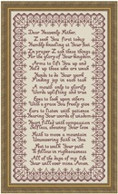 Morning Prayer MBT022 religious cross stitch chart My Big Toe Designs - $14.00