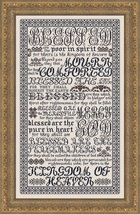 The Beatitudes MBT023 religious cross stitch chart My Big Toe Designs - $18.00