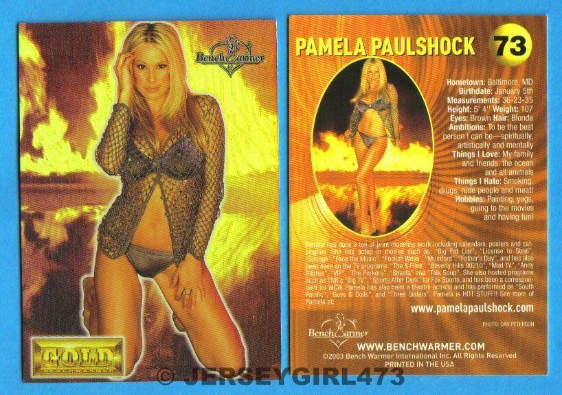 Pamela Paulshock 2003 Bench Warmer Gold Edition Card #73
