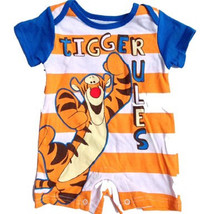 Infant Boy's Romper Tigger Rules One-piece Disney Baby NEW - $11.47