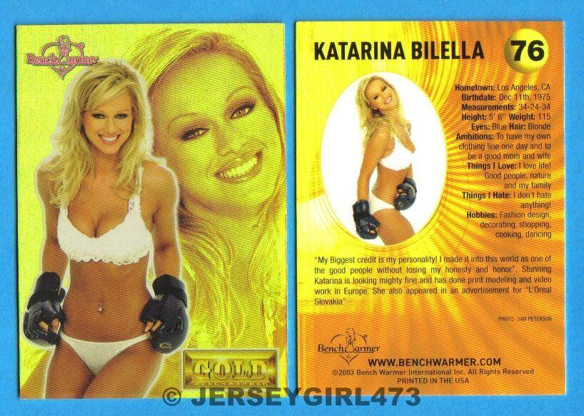 Katarina Bilella 2003 Bench Warmer Gold Edition Card #76