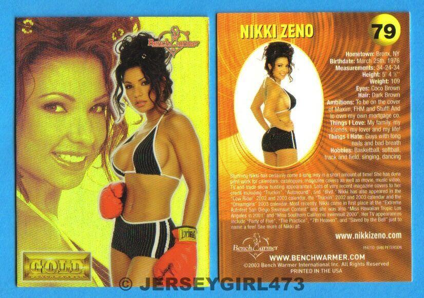 Nikki Zeno 2003 Bench Warmer Gold Edition Card #79