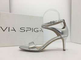 Heels Via Sandals Size Silver M Women's Metallic Leesa 6 Leather Spiga Y7RrwpHqY