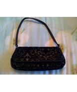 Black Velvet, and linen evening bag - $10.00