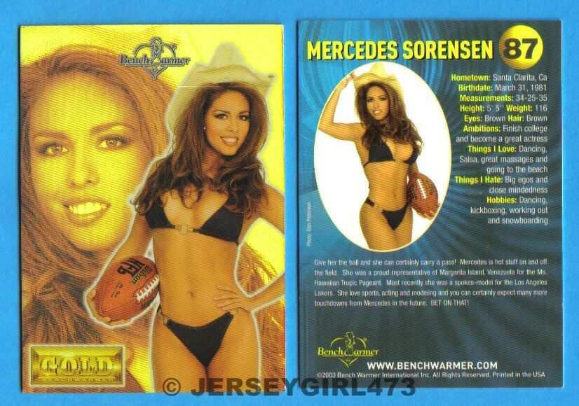Mercedes Sorensen 2003 Bench Warmer Gold Edition Card #87