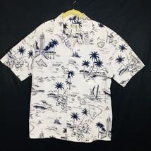 Ky's Vintage Made In Hawaii Mens Size L Hawaiian Island Shirt Maui Lanai... - $24.28