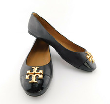 New Tory Burch Size 7.5 Black Everly Ballet Flats Shoes 7 1/2 - $168.00