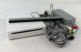 Nintendo Wii White Video Game Console (RVL-001) Bundle - GameCube Compat... - $84.95