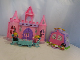 Fisher Price Little People Pink Dance Twirl Castle + play 'n go tent camping + - $38.63