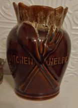 Vintage Weller Potter Brown Drip Glaze Kitchen Helper Utensil Holder - $12.99