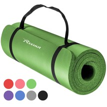 REEHUT 1/2-Inch Extra Thick High Density NBR Exercise Yoga Mat for Pilates, Fitn - $16.40
