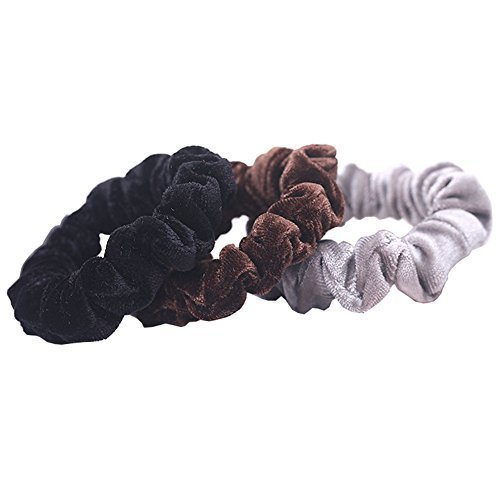 Set of 3 Fashion Simple High Elastic Velvet Ponytail Holders Hair Accessories(C)