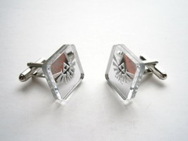 Legend of Zelda Cuff Links - Hyrule's Royal Crest - Mirror Plastic and E... - $16.95
