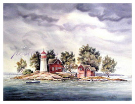 Coming Storm Off Crossover Island  by Larry Sherman - $75.00