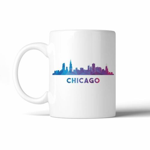365 Printing Polygon Skyline Multicolor Downtown White Mug image 3
