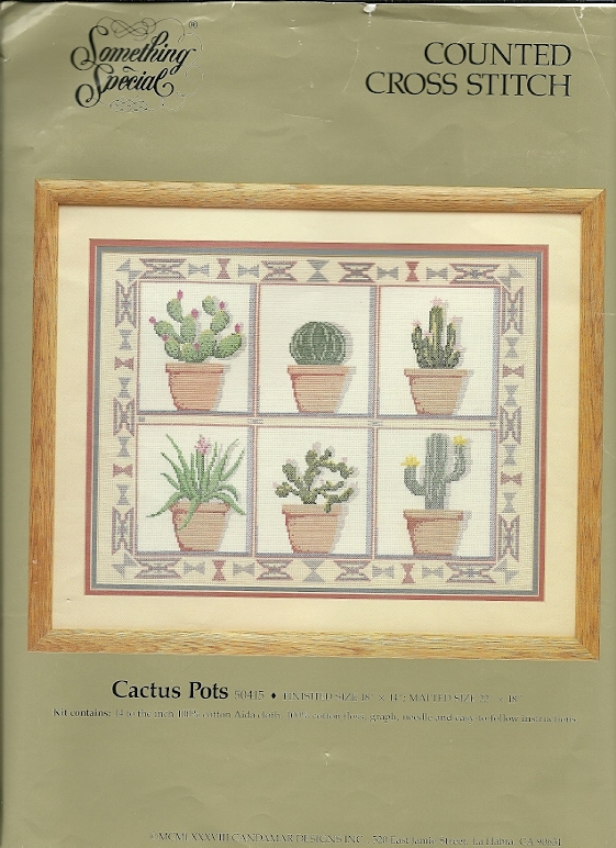 Something special counted cross stitch kit 50415 cactus pots