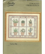 Counted Cross Stitch Kit Cactus Pots Something Special 50415 Aida Floss ... - $6.93