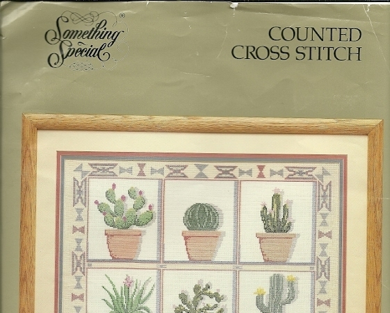 Counted Cross Stitch Kit Cactus Pots Something Special 50415 Aida Floss Graph