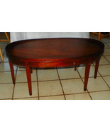 Mahogany Oval Hepplewhite Coffee Table by Mersm... - $499.00