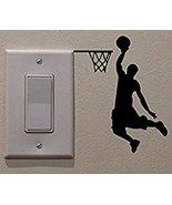 Basketball Player Vinyl Switch Sticker Decor Lightswitch Decor Wall Deca... - $4.90