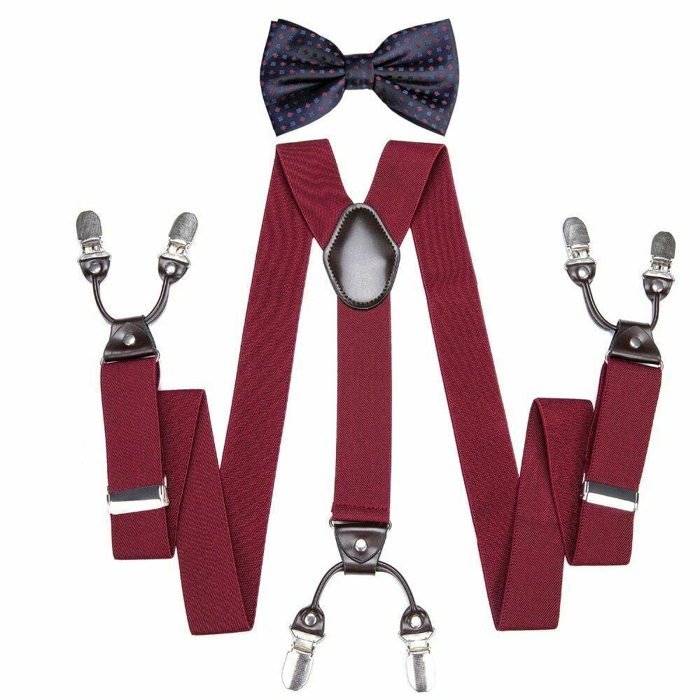 Unisex Suspender Set Width Adjustable Elastic Fashion Braces Suit Wear 125Cm image 2
